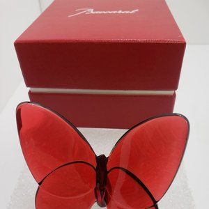 Baccarat Crystal Red Lucky Butterfly Papillon